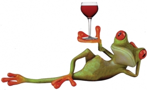 Reclining-WINE-frog
